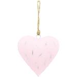 HerzHänger Teal, pink, Metall, 16x16x2 cm