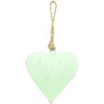 HerzHänger Teal, grün, Metall, 10x10x1 cm