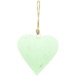 HerzHänger Teal, grün, Metall, 16x16x2 cm