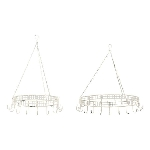 KräuterKrone Set/2 Junker, weiß, Metall, 42x42x10 cm