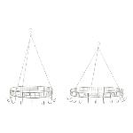 KräuterKrone Set/2 Junker, grau, Metall, 42x42x10 cm