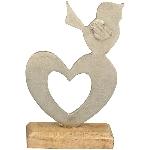 Herz Puri, Holz/Metall, 22x13,5x5,5 cm