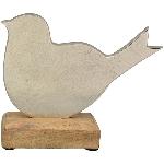 Vogel Puri, Holz/Metall, 14x17x5 cm
