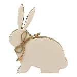 Hase Dost, Holz, 20x20x2,5 cm