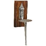 WandHalter Pile, Holz/Metall, 21x13x42 cm