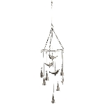 VogelWindspiel Iride, Metall, 21x21x69 cm
