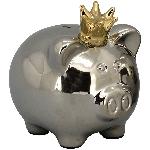 SparDose Schwein ArgenT, silber, Keramik, 21x17x20,5 cm