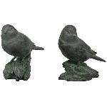 Vögel auf Ast TroupeR, Polyresin, 12,6x6,7x12,6 cm