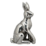 Hase ArgenT, silber, Dolomite, 18x10x27 cm