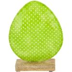 Ei EnameL, grün, Metall/Holz, 14x5x18 cm