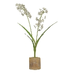 Blume Teal, Metall, 37,5x17x10,5 cm
