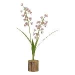 Blume Teal, Metall, 40x21x14 cm