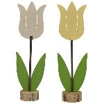 Tulpe Teal, Metall/Holz, 50,5x15x40 cm