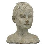 MädchenBüste Valo, Zement, 16x14x20 cm