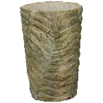 Topf moola, grün, Zement, 12,5x12,5x18 cm