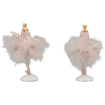 Vogel Sannie, pink, Polyresin, 4x3,5x9,5 cm