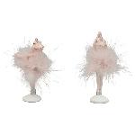 Frosch Sannie, pink, Polyresin, 4x4x11 cm