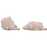 Schwein Sannie, pink, Polyresin, 20x9x6,5 cm