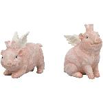 Schwein Sannie, pink, Polyresin, 8x5x10 cm