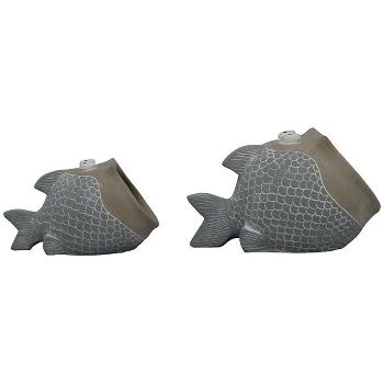 FischPflanzTopf LaMer, Zement, 25x15,5x14,5 cm