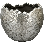 PflanzEi ArgenT, silber, Stoneware, 15,5x15,5x13 cm