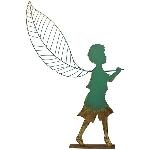 Junge mit LED ArtFerro, Metall, 63,5x12,1x107,3 cm