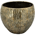 Schale Doré, Metall, 33x33x26 cm