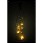 10er LED Flasche SternLichterKette Lumière, 90 cm,