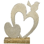 HerzmitVogel Puri, Holz/Aluminium, 17x5x21,5 cm