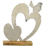 HerzmitVogel Puri, Holz/Aluminium, 25x5x29 cm