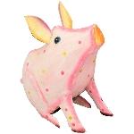 SparDose Schwein Kanu, pink, Metall, 14x7x15 cm