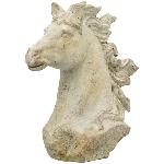 PferdekopfBüste Valo, Zement, 20,5x9x21,5 cm