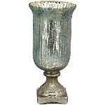 WindLicht TURQOISE, türkis, Glas, 15x15x32,5 cm