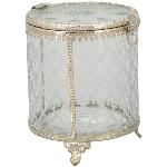 Bonboniere Iride, Glas/Metall, 10x10x12 cm