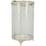 Bonboniere Iride, Glas/Metall, 10x10x16,5 cm
