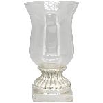 WindLicht ArgenT, silber, Stoneware, 22,5x22,5x40,5 cm