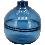 Vase PENO, blau, Glas, 18x18x20 cm