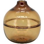 Vase PENO, bernstein, Glas, 18x18x20 cm
