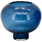 Vase PENO, blau, Glas, 16x16x16 cm