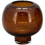 Vase PENO, bernstein, Glas, 16x16x16 cm