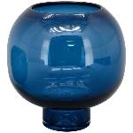 Vase PENO, Blau, Glas, 20x20x19,5 cm