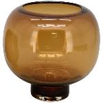 Vase PENO, bernstein, Glas, 20x20x19,5 cm