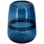 Vase PENO, blau, Glas, 13x13x18 cm