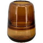 Vase PENO, bernstein, Glas, 13x13x18 cm
