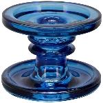 KerzenHalter PENO, blau, Glas, 11x11x8,6 cm