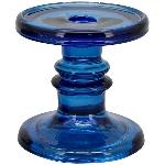 KerzenHalter PENO, blau, Glas, 11x11x11 cm