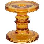 KerzenHalter PENO, bernstein, Glas, 11x11x11 cm