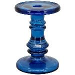 KerzenHalter PENO, blau, Glas, 11x11x15,5 cm