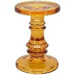 KerzenHalter PENO, bernstein, Glas, 11x11x15,5 cm