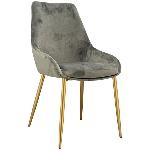 Stuhl DIVAN, grau, 53x57,5x92 cm